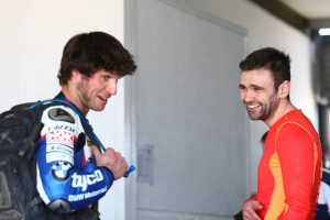 Guy and William enjoyed their opening day on the Tyco BMW S 1000 RR
